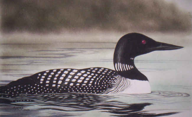 Loon painting - photo#7