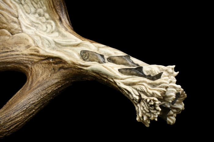 Remarkable antler carvings will have you in awe